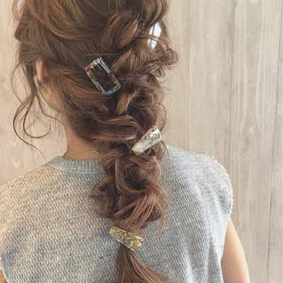ロング ヘアアレンジ フェミニン 大人女子 ヘアスタイルや髪型の写真・画像
