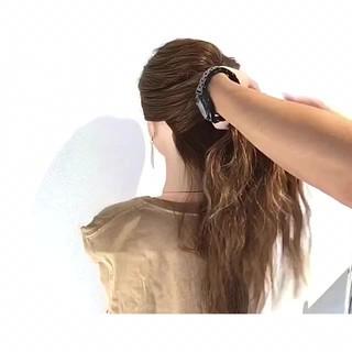 簡単ヘアアレンジ 夏 色気 涼しげ ヘアスタイルや髪型の写真・画像