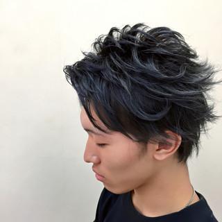 無造作 ショート ブリーチ ボーイッシュ ヘアスタイルや髪型の写真・画像