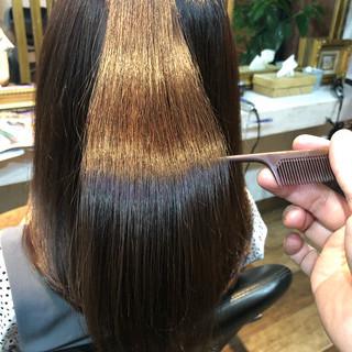 ナチュラル 縮毛矯正 髪質改善 髪質改善カラー ヘアスタイルや髪型の写真・画像