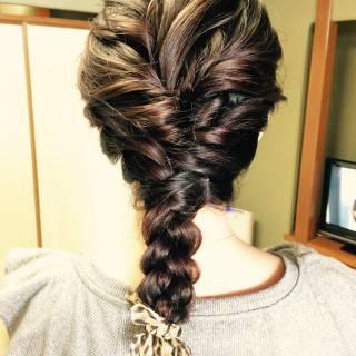 ロング ロープ編み 大人かわいい 愛され ヘアスタイルや髪型の写真・画像 ヘアスタイルや髪型の写真・画像