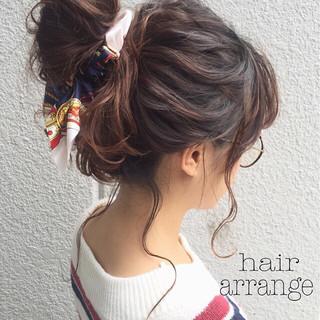 ハーフアップ 簡単ヘアアレンジ ヘアアレンジ ショート ヘアスタイルや髪型の写真・画像