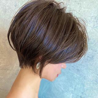 ハイライト ショート 前髪なし ショートボブ ヘアスタイルや髪型の写真・画像