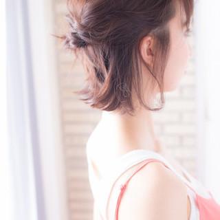 ヘアアレンジ 色気 ボブ ミディアム ヘアスタイルや髪型の写真・画像