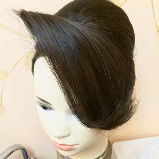 和装 夜会巻 着物 ヘアアレンジ ヘアスタイルや髪型の写真・画像