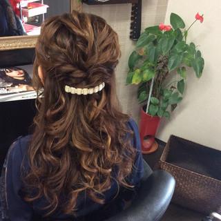 ヘアアレンジ 簡単ヘアアレンジ 結婚式 ナチュラル ヘアスタイルや髪型の写真・画像