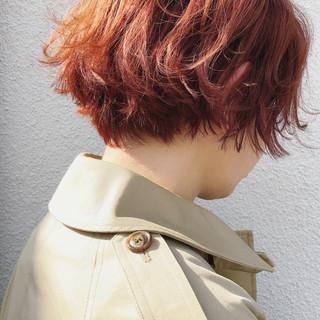 外国人風カラー ショート ストリート ショートボブ ヘアスタイルや髪型の写真・画像