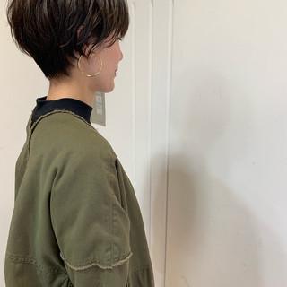 ベリーショート ショートヘア アンニュイほつれヘア 大人かわいい ヘアスタイルや髪型の写真・画像