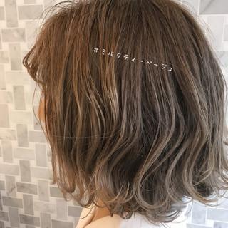 大人かわいい 透明感カラー ナチュラル ボブ ヘアスタイルや髪型の写真・画像