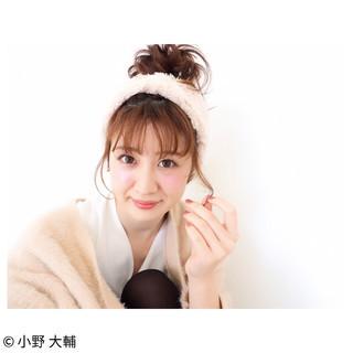 ヘアアレンジ おフェロ ミディアム 簡単ヘアアレンジ ヘアスタイルや髪型の写真・画像