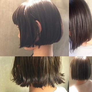 ウェーブ 黒髪 モード リラックス ヘアスタイルや髪型の写真・画像