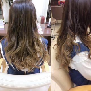 ハイライト 外国人風カラー セミロング ハイトーン ヘアスタイルや髪型の写真・画像