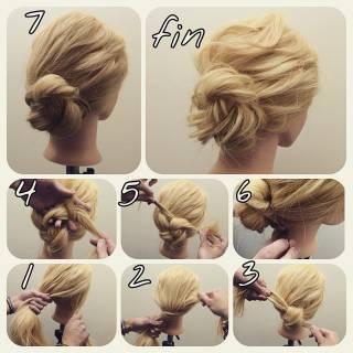モテ髪 コンサバ ヘアアレンジ ガーリー ヘアスタイルや髪型の写真・画像