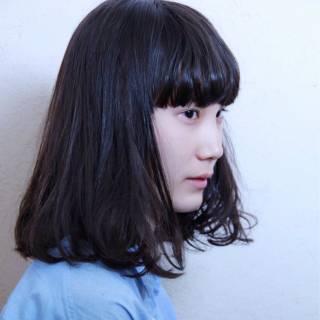 ゆるふわ 黒髪 ナチュラル 艶髪 ヘアスタイルや髪型の写真・画像