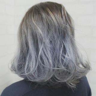 ガーリー ゆるふわ グラデーションカラー ハイトーン ヘアスタイルや髪型の写真・画像