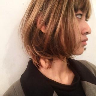 ハイライト ゆるふわ ミディアム 春 ヘアスタイルや髪型の写真・画像