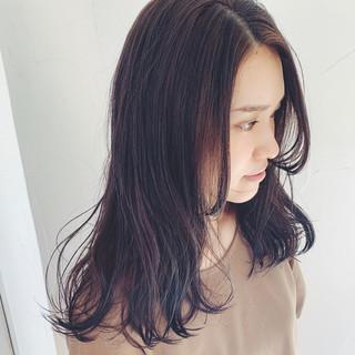 ヌーディベージュ セミロング 3Dハイライト パーマ ヘアスタイルや髪型の写真・画像