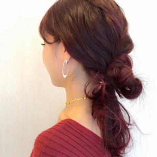 デート オフィス ヘアアレンジ ナチュラル ヘアスタイルや髪型の写真・画像