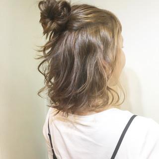 斜め前髪 ボブ リラックス デート ヘアスタイルや髪型の写真・画像