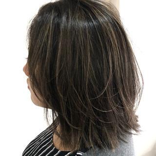 フェミニン ハイライト ボブ 外国人風 ヘアスタイルや髪型の写真・画像