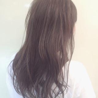 外国人風 ゆるふわ 黒髪 ロング ヘアスタイルや髪型の写真・画像