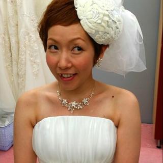 ショート ヘアアレンジ ブライダル 結婚式 ヘアスタイルや髪型の写真・画像 ヘアスタイルや髪型の写真・画像