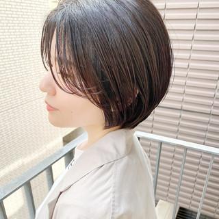 ショートボブ オフィス ショート 大人かわいい ヘアスタイルや髪型の写真・画像