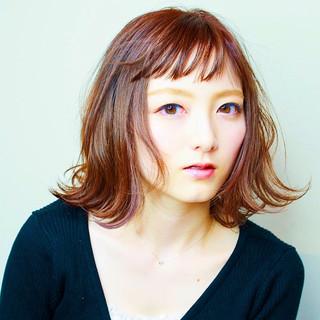 ブラウンベージュ ピンク ナチュラル ベージュ ヘアスタイルや髪型の写真・画像