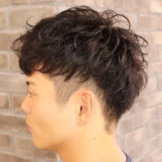 デート ショートヘア ストリート パーマ ヘアスタイルや髪型の写真・画像