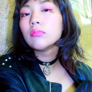 小顔 モード アッシュ グラデーションカラー ヘアスタイルや髪型の写真・画像