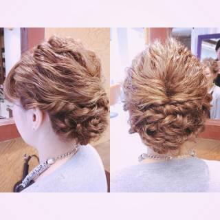 ウェットヘア アップスタイル ウェーブ モード ヘアスタイルや髪型の写真・画像
