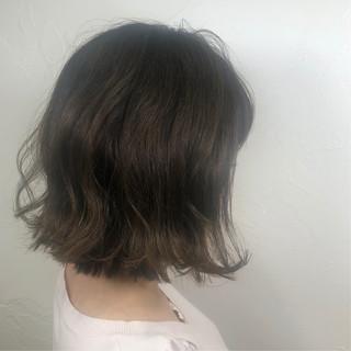 ナチュラル デート ボブ パーマ ヘアスタイルや髪型の写真・画像