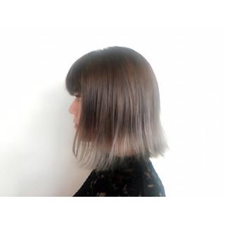 ガーリー アッシュ ボブ 外国人風 ヘアスタイルや髪型の写真・画像