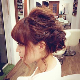 ロング パーマ 簡単ヘアアレンジ ヘアアレンジ ヘアスタイルや髪型の写真・画像