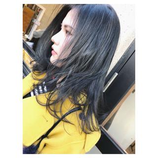 グラデーションカラー 女子力 セミロング ダブルカラー ヘアスタイルや髪型の写真・画像