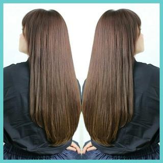 ストレート 前髪あり ロング パーマ ヘアスタイルや髪型の写真・画像 ヘアスタイルや髪型の写真・画像