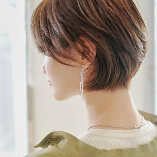 ショートボブ ナチュラル ショート ショートヘア ヘアスタイルや髪型の写真・画像 ヘアスタイルや髪型の写真・画像