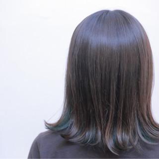 暗髪 アッシュ ボブ ストリート ヘアスタイルや髪型の写真・画像