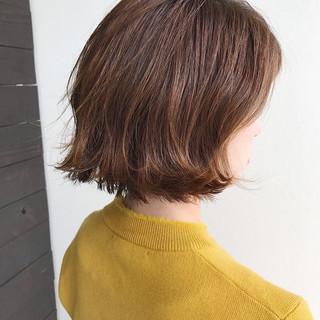 切りっぱなし ウェットヘア 外ハネ ボブ ヘアスタイルや髪型の写真・画像