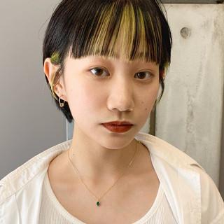 ショート シースルーバング ショートボブ ショートヘア ヘアスタイルや髪型の写真・画像