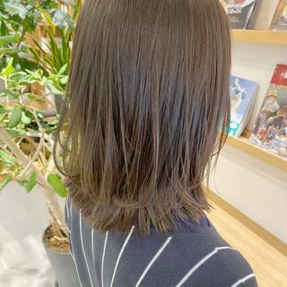 外ハネボブ ナチュラル モテボブ 切りっぱなしボブ ヘアスタイルや髪型の写真・画像
