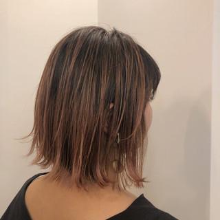 ストリート バレイヤージュ ショートボブ ミニボブ ヘアスタイルや髪型の写真・画像