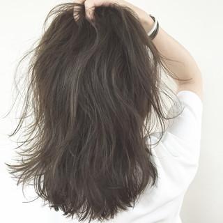 セミロング パーマ ヘアアレンジ 外国人風 ヘアスタイルや髪型の写真・画像