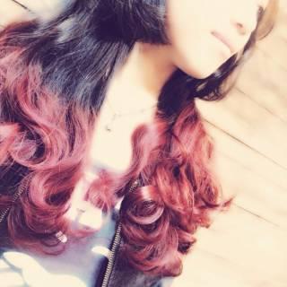 ピンク 愛され モテ髪 ウェーブ ヘアスタイルや髪型の写真・画像
