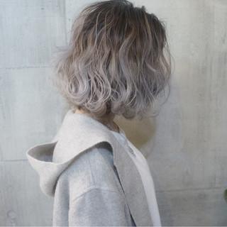 ボブ グラデーションカラー 外国人風 ゆるふわ ヘアスタイルや髪型の写真・画像