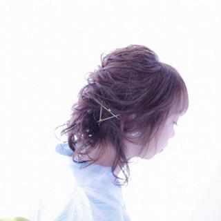 和装 夏 アップスタイル 花火大会 ヘアスタイルや髪型の写真・画像