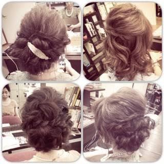 編み込み ボブ コンサバ フェミニン ヘアスタイルや髪型の写真・画像