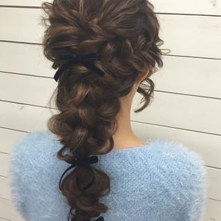 ヘアアレンジ ロング 花嫁 結婚式 ヘアスタイルや髪型の写真・画像