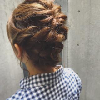 結婚式 ガーリー ヘアアレンジ 簡単ヘアアレンジ ヘアスタイルや髪型の写真・画像