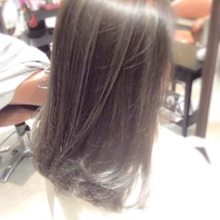 ガーリー セミロング ハイライト ゆるふわ ヘアスタイルや髪型の写真・画像